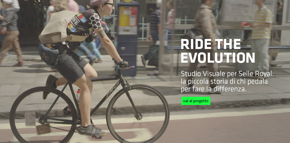 Ride the evolution. Studio Visuale per Selle Royal. A short film about making the difference