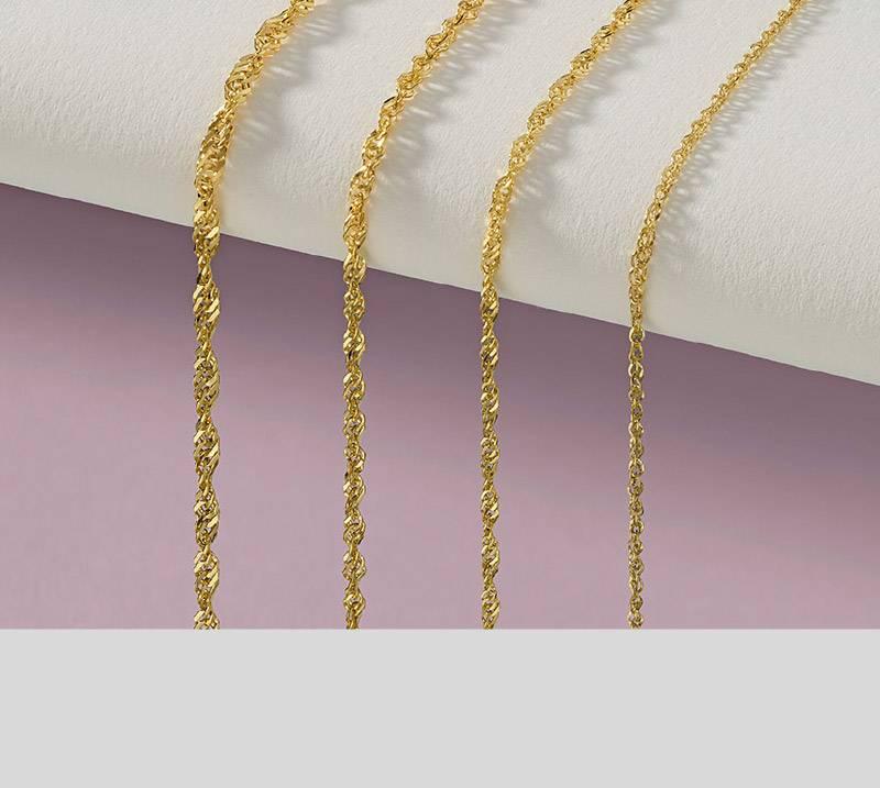 Catene d'oro, ombre cesellate e carta cotonata per Filk.