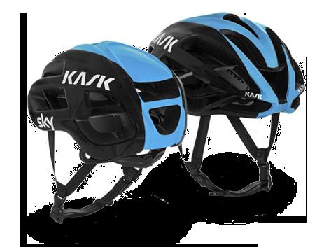 nuovo logo Kask applicato al modello Protone per il team Sky