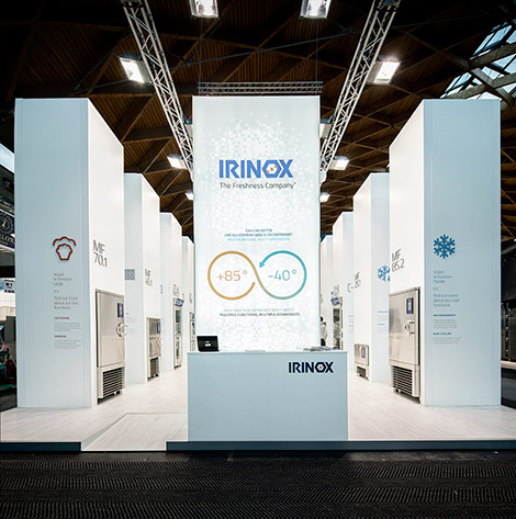 Progetto di allestimento Irinox Sigep 2015 di Studio Visuale