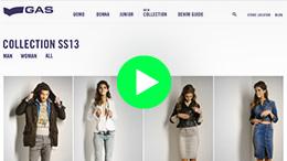 Gas Jeans website