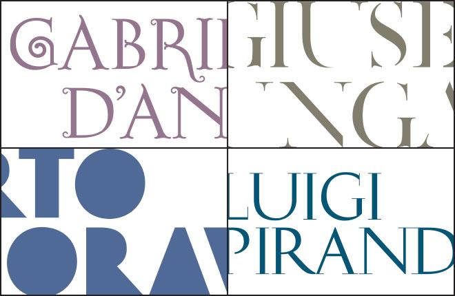 Identità visiva in mostra: ad ogni autore un logotipo disegnato ad hoc
