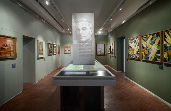 La sala di Bontempelli e Marinetti.